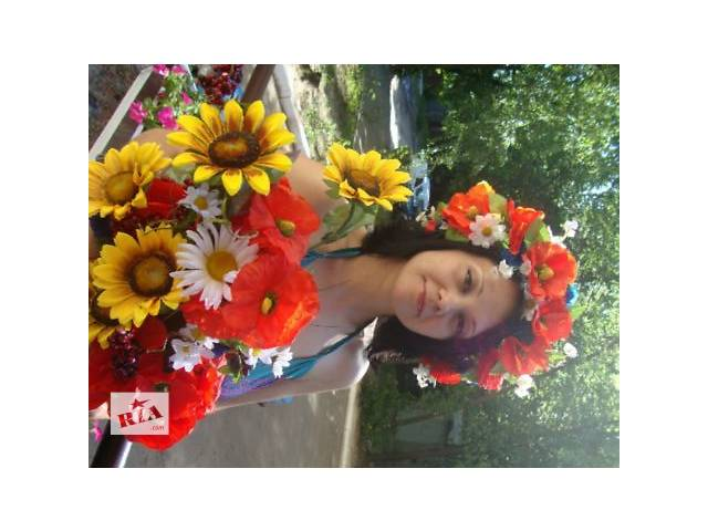 продам Украинский венок, венок из цветов,венок из полевых цветов бу в Киеве