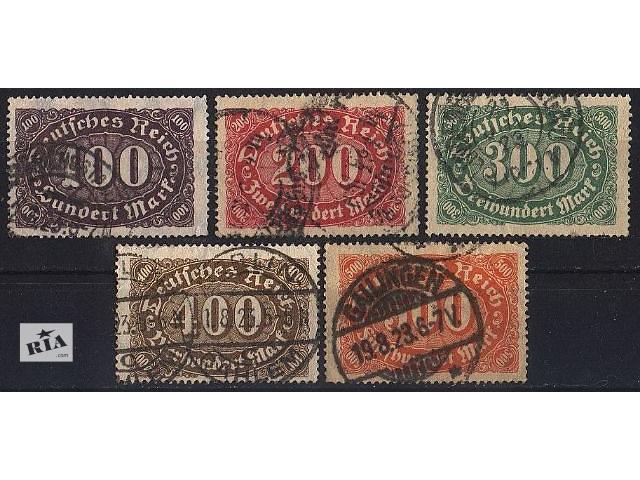 1922 - Германия - Стандарт _Овалы Mi.219-23- объявление о продаже  в Ровно