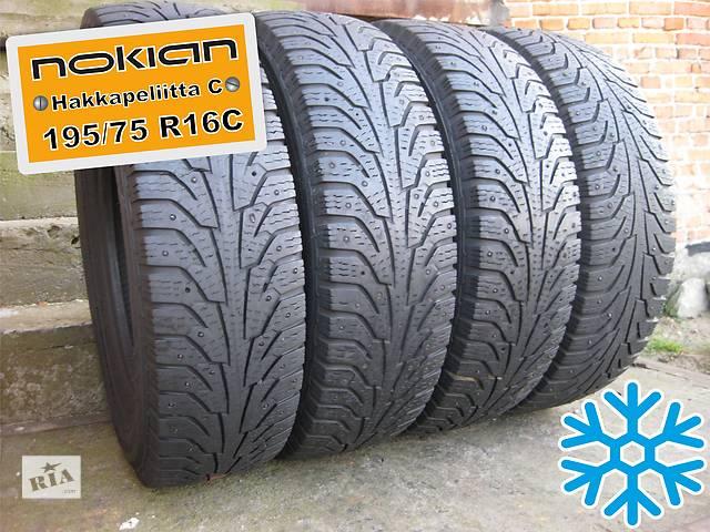 бу 195/75 R16C Nokian Hakkapeliitta-C (зима) 5мм 4шт (шипованная) в Львове