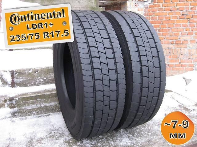 купить бу 235/75 R17.5 Continental LDR1+ (ведущая ось) 7-9мм 2шт в Львове
