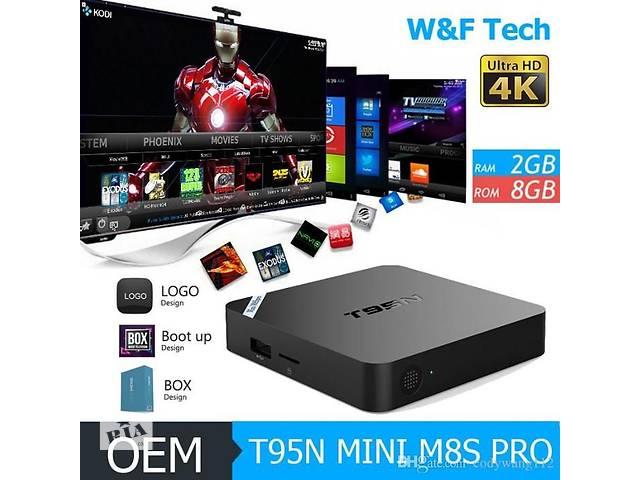 продам T95N S905X 1/8gb TV BOX тв бокс IPTV Android. пристав+900тел бу в Одессе