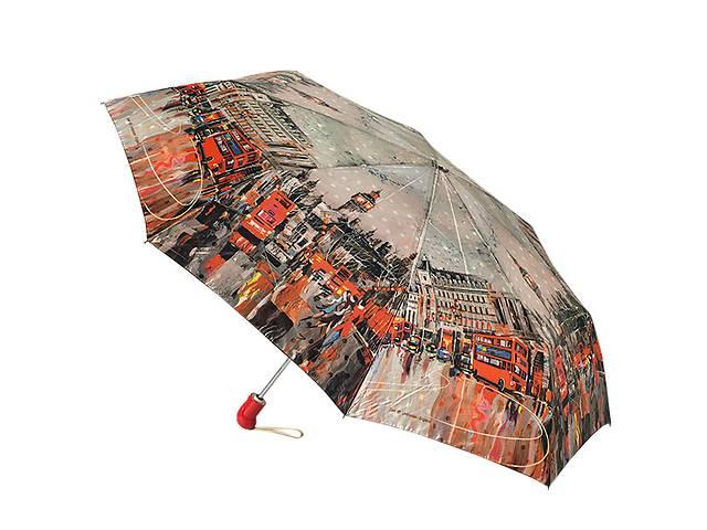 купить бу Стильный зонт Zest 83744-001 с красочным принтом, сатин,автомат. в Харькове