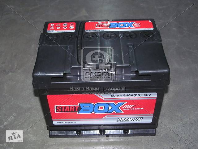 купить бу Аккумулятор   60Ah-12v StartBOX Premium (242x175x190),L,EN540 в Харкові