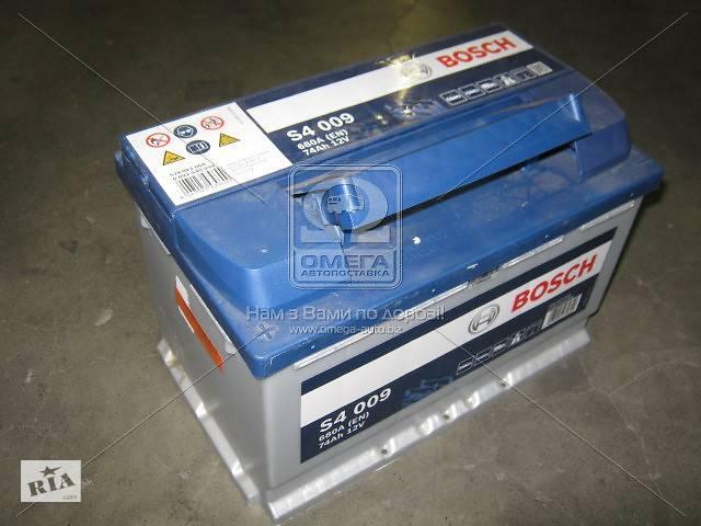 купить бу Аккумулятор   74Ah-12v BOSCH (S4009) (278x175x190),L,EN680 !КАТ. -10% в Харькове