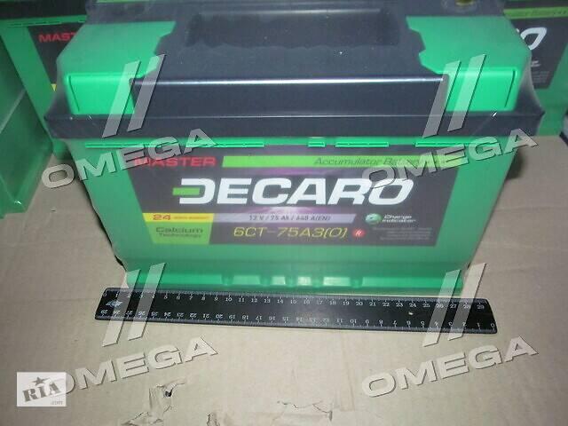 Аккумулятор   75Ah-12v DECARO MASTER (278х175х190),R,EN640- объявление о продаже  в Харкові