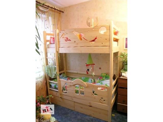 купить бу Акция эксклюзив двухъярусная кровать из карпатских лесов вашим детишкам в Киеве
