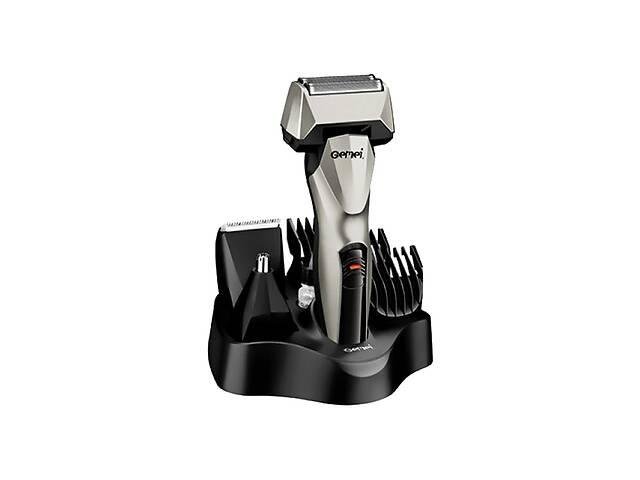 купить бу Универсальный мужской триммер для бороды усов носа и тела Gemei GM 576 6в1 машинка для стрижки в Харькове