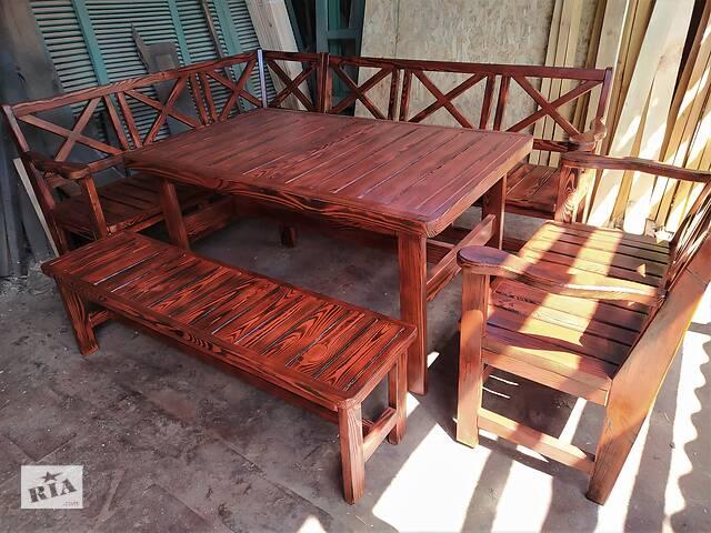 """Акция! Садовый комплект мебели деревянный """"Прованс"""" ( стол, лавки )- объявление о продаже  в Житомире"""