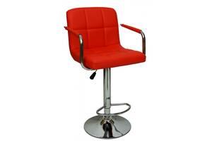 Барний стілець зі спинкою B-628-1 червоний