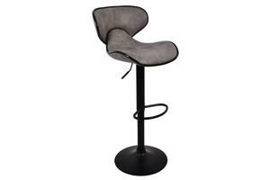 Барный стул со спинкой Bonro HB-678 серый