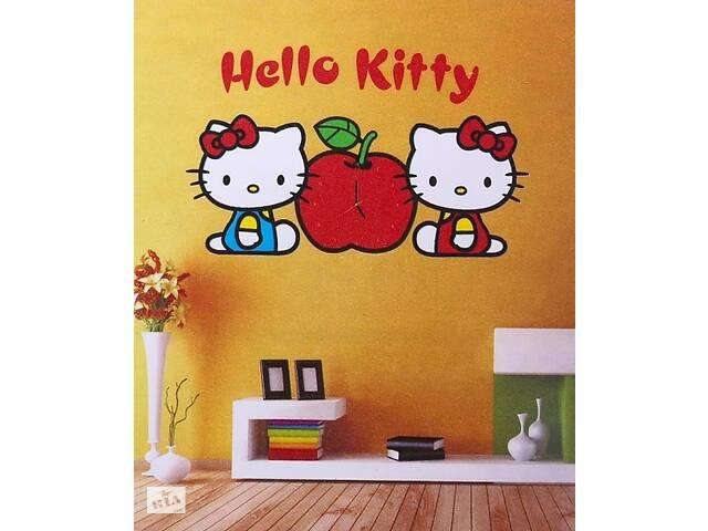 ЧАСЫ НАКЛЕЙКИ НА СТЕНУ HELLO KITTY- объявление о продаже  в Харькове