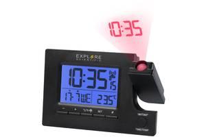 Часы проекционные Explore Scientific Slim Projection RC Dual Alarm Black (RDP1003CM3LC2) xplrScntfc928650
