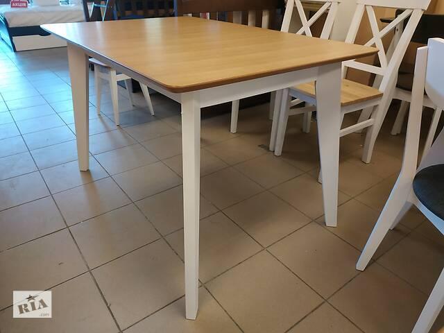 Дерев'яний стіл кухонний розкладний 120х80+40 прямокутний на кухню бук- объявление о продаже  в Львове