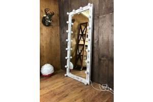 Деревянное зеркало в стиле LOFT (180 см) (Mirror - 13)