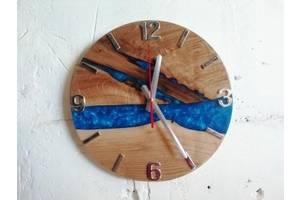 Деревянные часы из эпоксидки Часы-река Ручная Работа ТМ Просто и Легко 33на2,3 см SKL12-265764