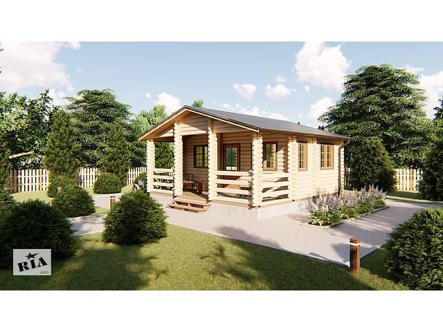 купить бу Деревянный дом для дачи 6х6 м из бруса с террасой в Украине. Скидка на домокомплекты на 2020 год в Одессе