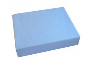 Детская хлопковая простынь Twins на резинке 120/60, голубая