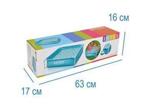 Дитячий каркасний басейн Intex Small Frame 122х122х30 см тришаровий ПВХ, квадратний, блакитний