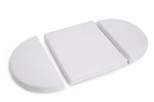 Детский матрас - трансформер для круглой и овальной кроватки для новорожденных 170x70 Twins Cozy, белый