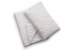 Детский набор гипоаллергенный одеяло и подушка Twins Premium 200 120х90, белый. Подарок новорожденному.