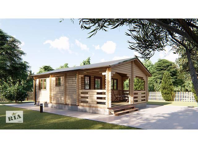 купить бу Дом из профилированного бруса 6х8,5 м. Кредитование строительства деревянных домов в Киеве