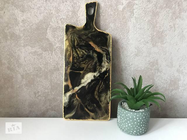 бу Доска из эпоксидной смолы «Black marble»   в Черкассах