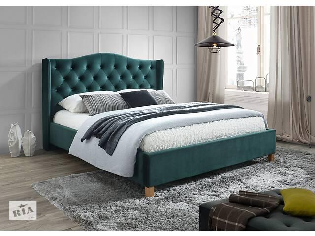 бу Двуспальная кровать Aspen Velvet 160X200 Зеленый/Дуб в Одессе