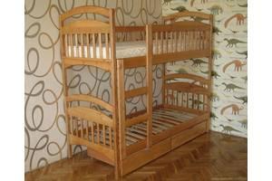 Двоярусне дерев'яне ліжко Каріна Акція