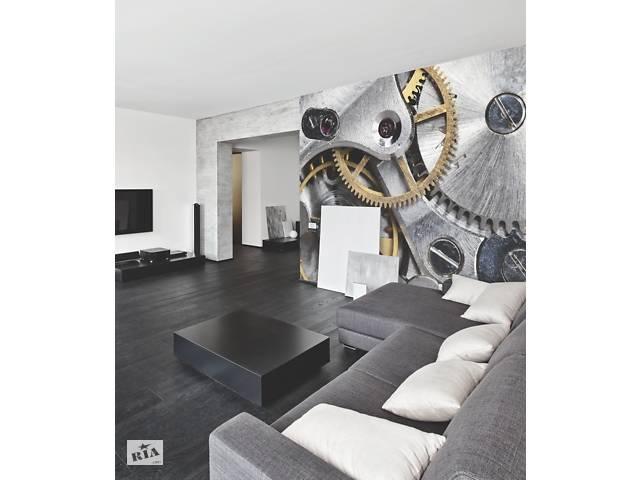 купить бу Фотообои в стиле loft флизелиновые Hi Tech Часовой механизм Clockwork 336 см х 280 см в Киеве