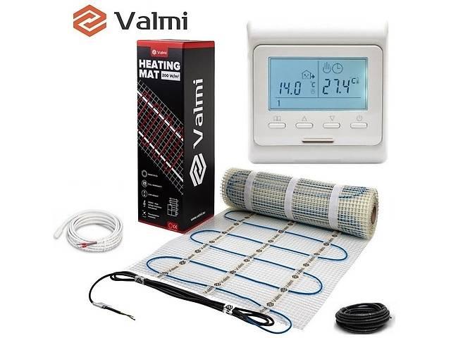 продам Електрична тепла підлога Valmi Mat 10 м² /2000Ват/200Вт/м² нагрівальний мат під плитку з терморегулятором E 51 бу в Києві