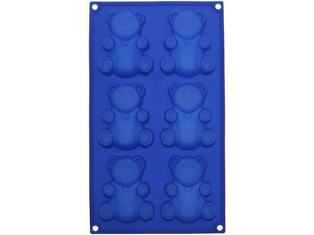 купить бу Форма силиконовая для выпечки Hauser Медвежонок Барни планшет 6 форм (HH-538_psg) в Киеве