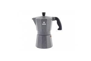 Гейзерная алюминиевая кофеварка 6 чашек Vinzer Granito VZ 89398