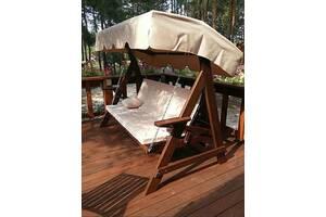 Качели .Изготовлена из массива дуба. Размер подвесной скамейки длина 180 см, доставка по Украине
