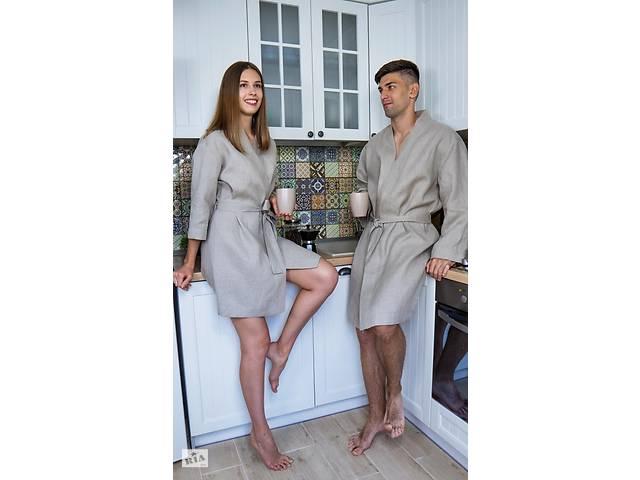 купить бу Халат мужской и женский с небеленого льна. в Чернигове