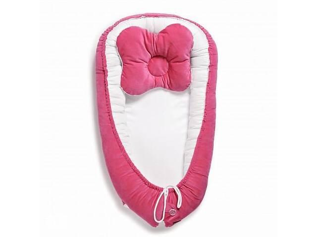 продам Кокон-гнездо для новорожденных, позиционер для сна с жесткими бортиками двухсторонний Twins Velvet, фуксия бу в Киеве