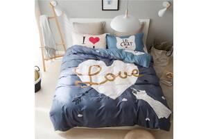 Комплект постельного белья I love cats (полуторный) Berni Home