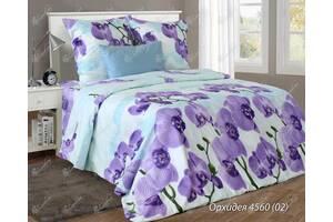 Комплект постельного белья полуторный  ОРХИДЕЯ фиолет (нав. 70*70)