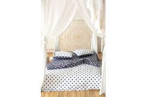 Комплект постельного белья Prestige Silver Горошек черно-белый полуторный SKL29-250683