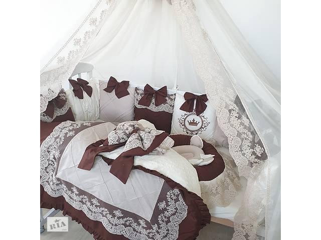 """продам Комплект в кроватку"""" бежево-коричневый"""" бу в Дубно"""