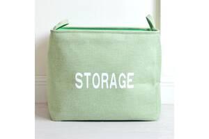 Корзина для игрушек, белья, хранения Склад, зеленый Berni Home