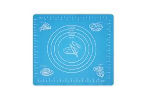 Коврик-подложка для раскатывания теста, 2926 см, голубой