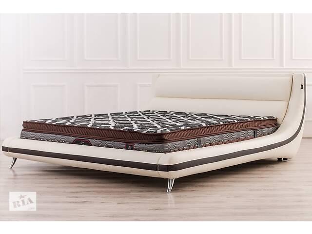 бу Кожаная двуспальная кровать Sonata Mobel B255 Молочная в Одессе
