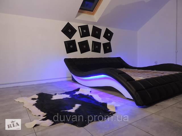 бу Кожаная кровать с подсветкой в Львове