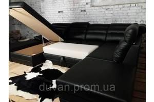 Кожаный раскладной угловой диван Miami