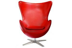 Кресло дизайнерское Эгг (Egg), ткань кашемир, кожа