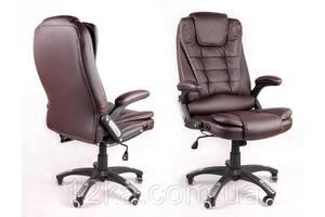 Крісло комп'ютерне масаж/підігрів Avko AV 02MH Brown масаж/підігрів