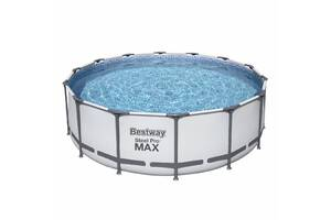 Круглый каркасный семейный бассейн Bestway 5612X 427х122 см с картриджным фильтром тентом и лестницей (int_5612X)