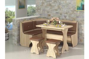 Кухонный уголок Президент с раскладным столом и двумя табуретами