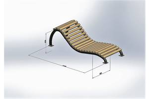 Лавочка шезлонг Greenberg от производителя Garden park bench 37
