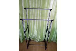 Лёгкая и удобная стойка для одежды double pole